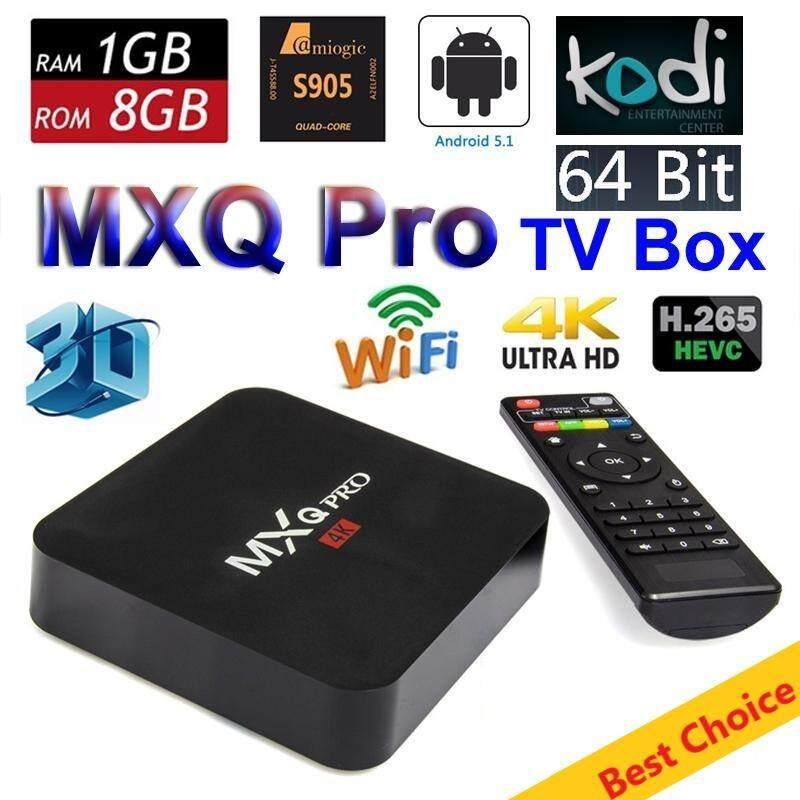 หนองบัวลำภู กล่องทีวีดิจิตอล แอนดรอยด์ MXQ Pro Smart Box Android 5.1 (Amlogic S905 4K Quad Core  64bit  1GB/8GB)