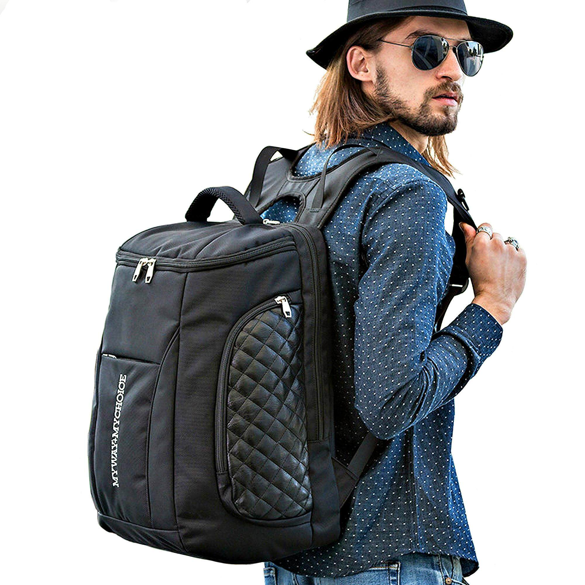 ขาย Men S Bags กระเป๋า Backpack กระเป๋าเป้สะพายหลัง กระเป๋าเป้ใส่โน๊ตบุ๊คและแท็บเล็ต กระเป๋าเป้เดินทาง ใบใหญ่ สีดำ ออนไลน์