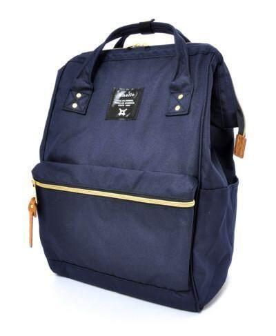 สอนใช้งาน  เชียงใหม่ กระเป๋า Anello Canvas Unisex Backpack - (Classic Size) Japan Imported แท้ 100%
