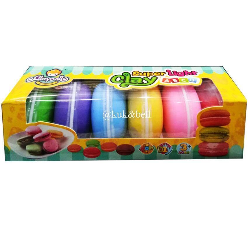 Patipan Toy ของเล่น ชุดเซ็ตแป้งโดว์ ดินน้ำมันปั้น แป้งโดมากาลอง 6 กระปุก สีสันสดใส Nt-1749 By Patipan Toy.