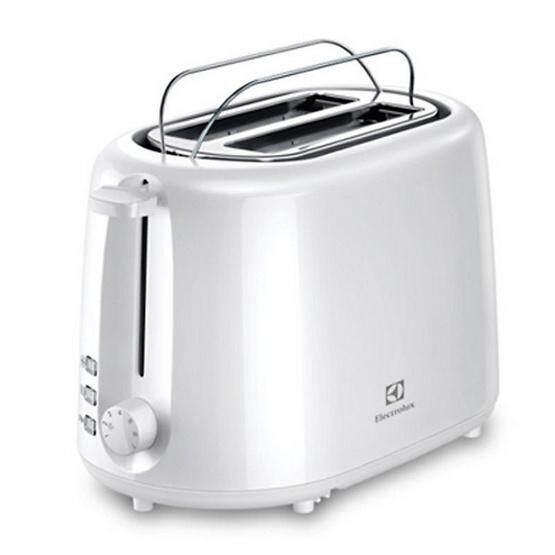 การใช้งาน  บุรีรัมย์ เครื่องปิ้งขนมปัง Electrolux รุ่น ETS 1303W สีขาว toaster machine