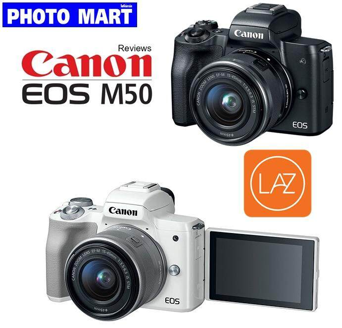 Canon Eos M50 Kit 15-45 Mm.(รับประกัน 1ปี) By Photo Mart.