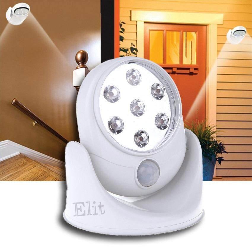 ขาย ซื้อ ออนไลน์ Elit โคมไฟนิรภัย โคมไฟไร้สาย หลอดไฟทางเดิน หมุนได้ 360 องศา Light Angel รุ่น Lag407 Ao