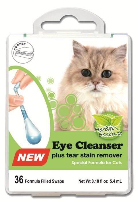 Swab Kits Eye Cleaner For Cat  : Cotton Bud ที่มีน้ำยาสมุนไพรภายในตัวสำหรับเช็ดคราบน้ำตาสำหรับน้องแมว .