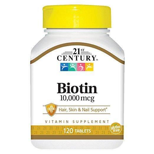 21st Century, Biotin, ไบโอติน 10,000 Mcg 120 เม็ด By Berry Blue.