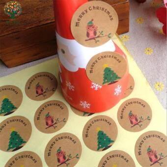 การส งเสร ม Weiyue Gift Stickers Gift Tags Beautiful Kraft Christmas