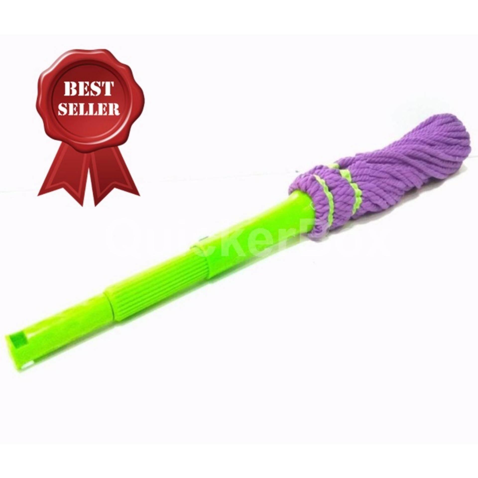 TWIST MAGIC MOP Purple ไม้ถูพื้น แบบบิด ผ้าหนาไมใครไฟเบอร์ ฟรีค่าจัดส่ง Kerry Express ส่งด่วน