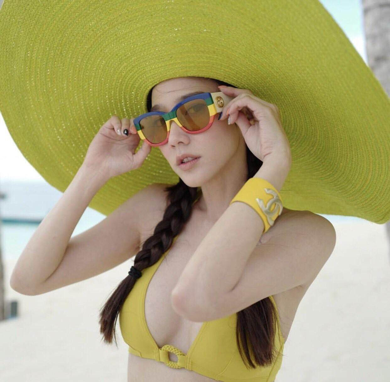 dbfbf538750b4 หมวกป่านศรนารายณ์ หมวกปีก หมวกสาน หมวกปีกว้าง oversize hats beach hats Hot  sale wide Brim sun hats for women Letter Embroidery straw Hats girls Do Not  ...