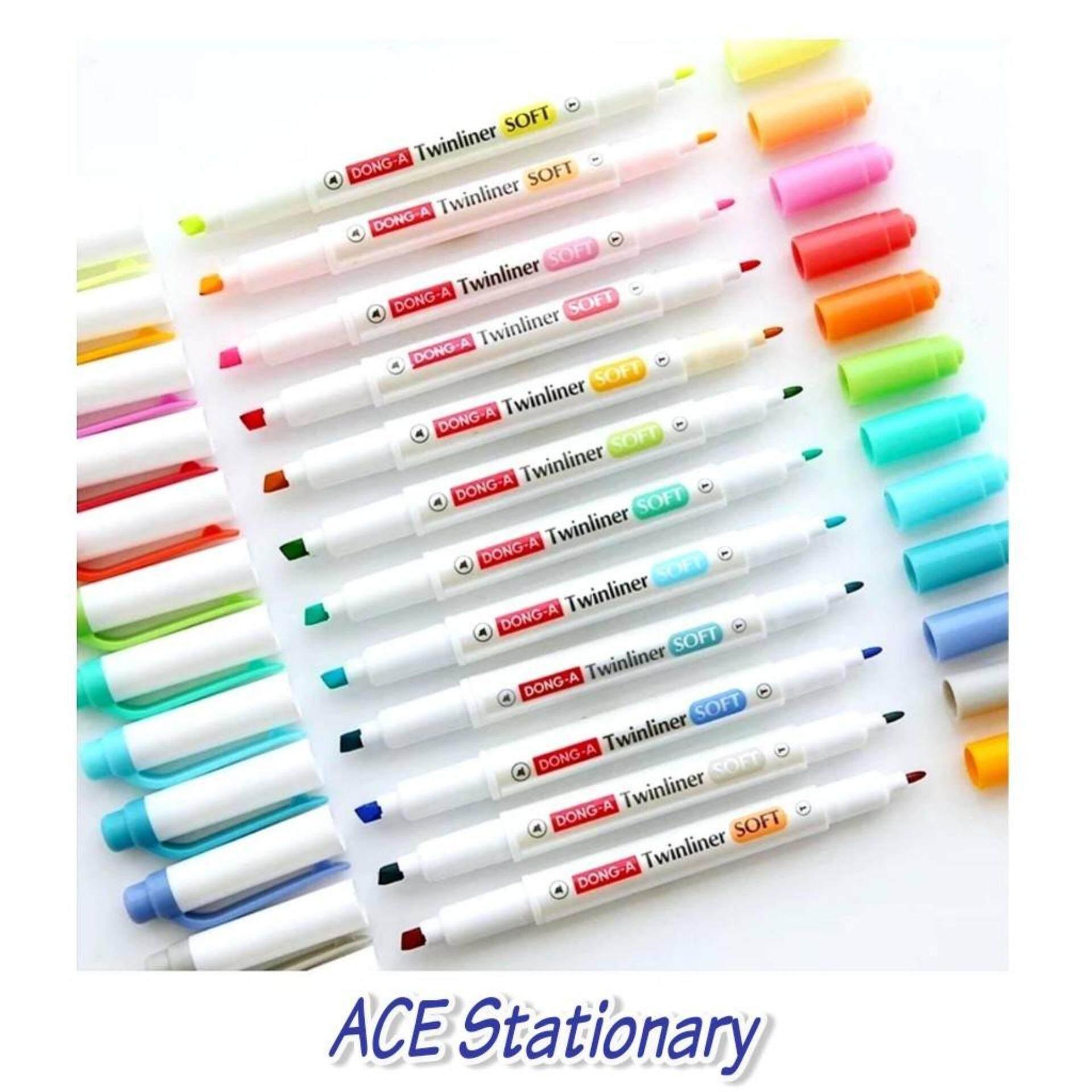 ปากกาเน้นข้อความ Twinliner 12 Color By Ace Stationary.