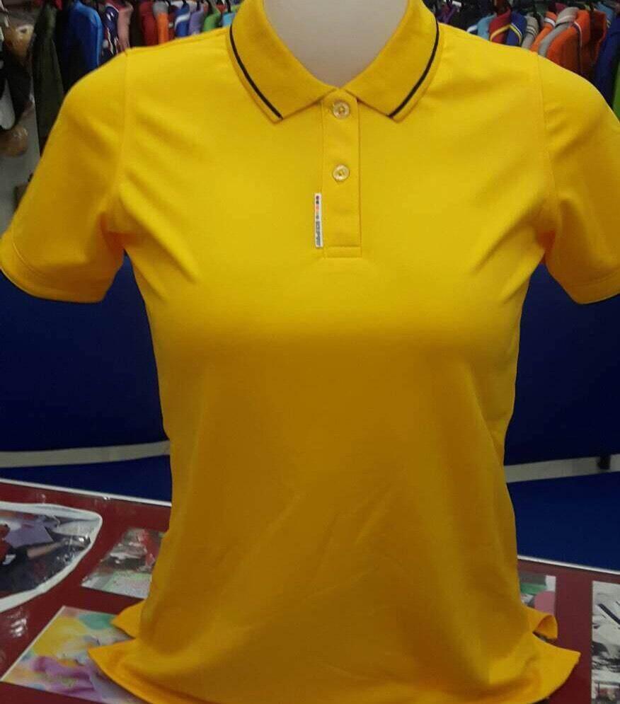 เสื้อโปโล Bcs สีเหลืองทรงผู้หญิง By Intersport.