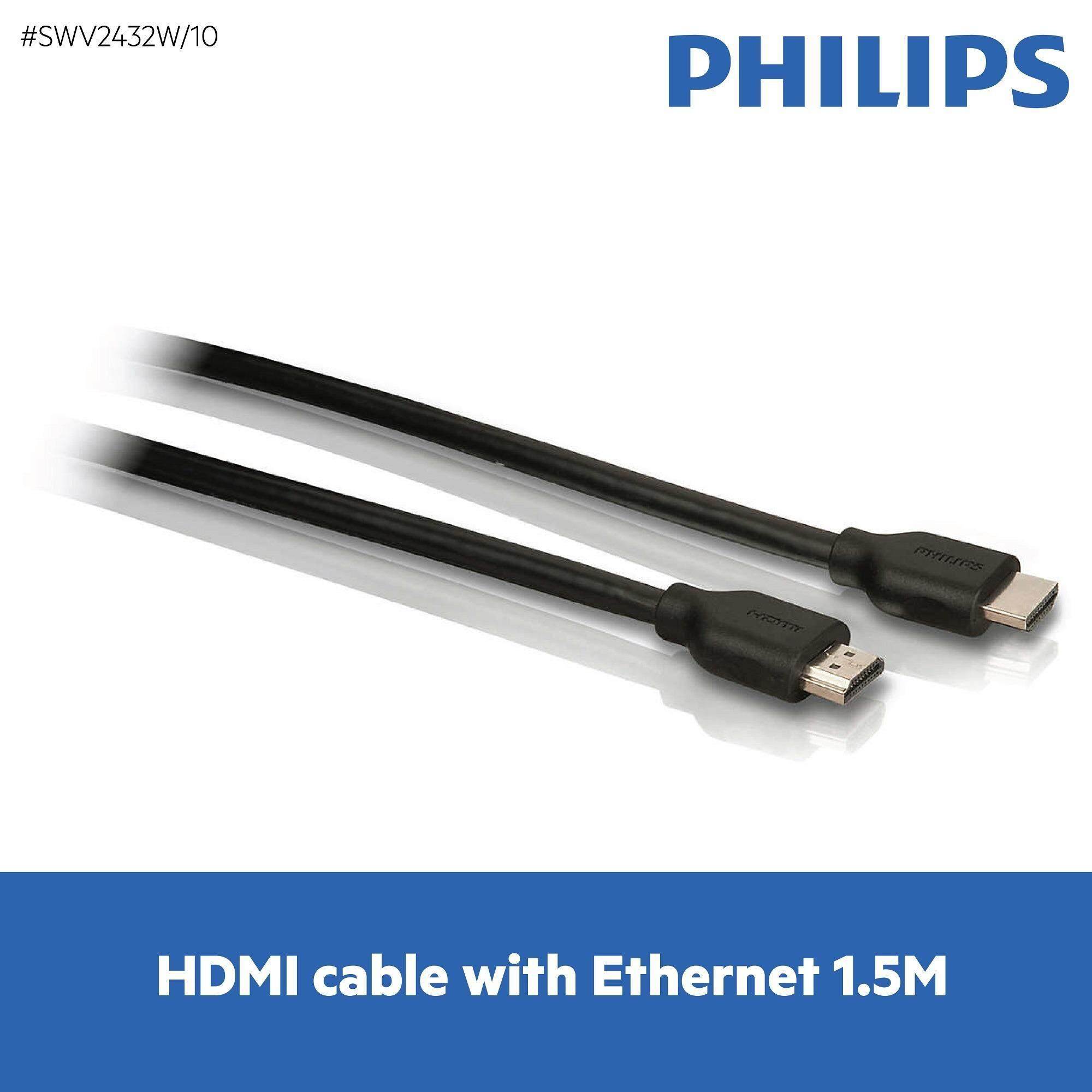 ซื้อ Philips สายส่งสัญญาณ Hdmi รุ่น Philips Swv2432W 10 Hdmi Cable With Ethernet 1 5M Philips เป็นต้นฉบับ