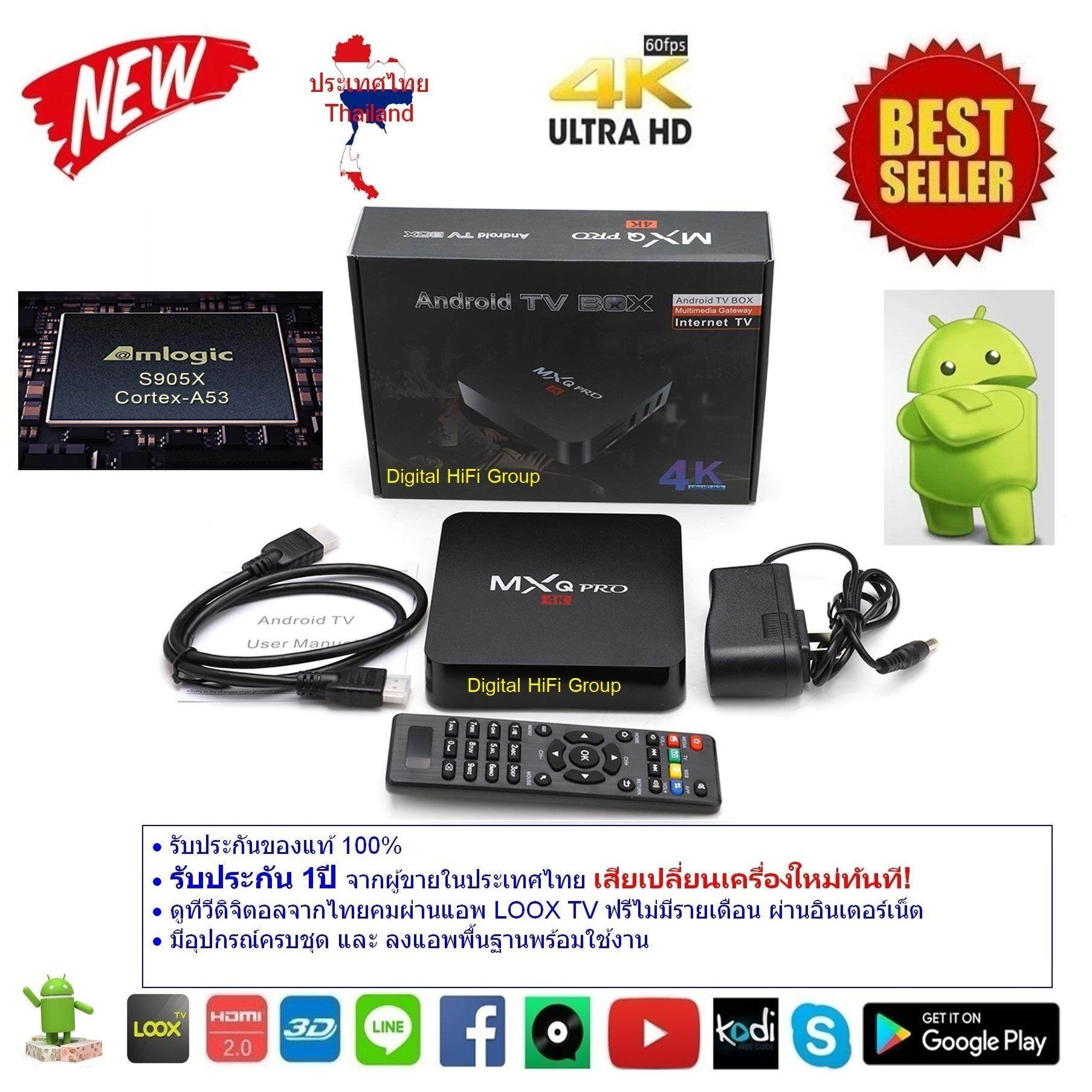สอนใช้งาน  กำแพงเพชร Android Smart Box MXQ Pro UHD 4K 64Bit Quad Core Ram 1GB DDR3 Android Marshmallow 6.0