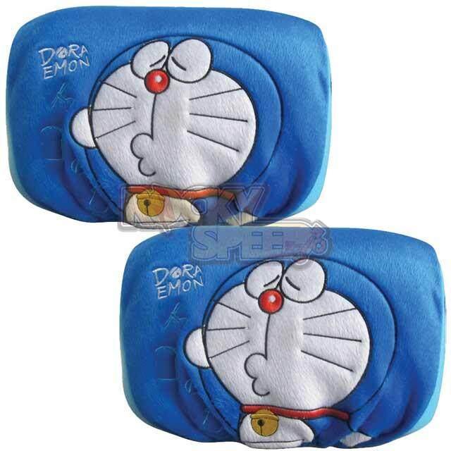 Doraemon ที่หุ้มหัวเบาะรถยนต์ ลิขสิทธิ์แท้ แพ็คคู่ By Rocky Speed.
