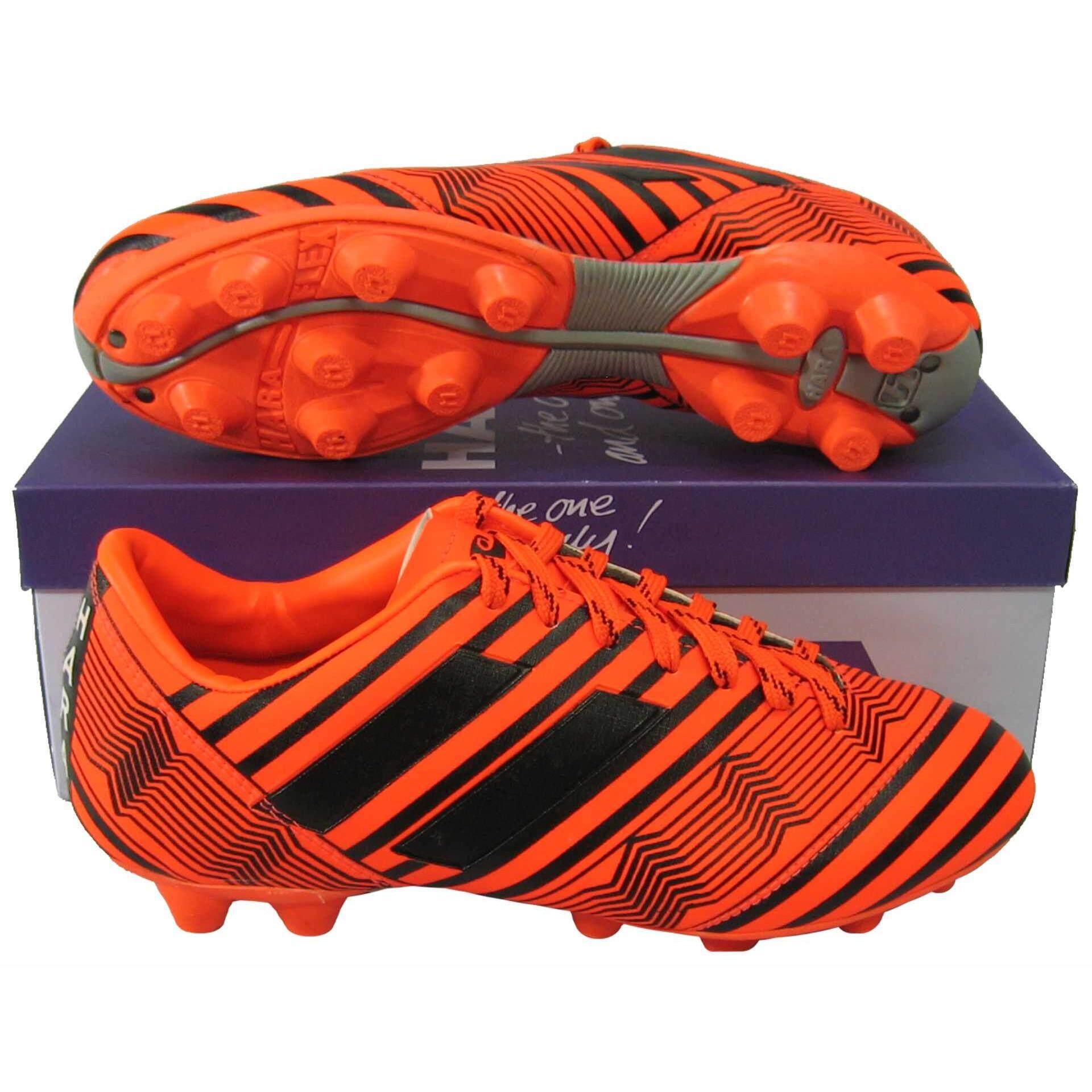 ราคา รองเท้าฟุตบอล รองเท้าสตั๊ด Hara F 95 ส้มดำ Hara เป็นต้นฉบับ