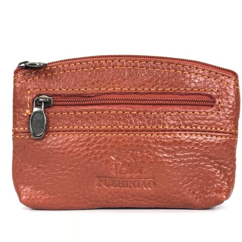 ส่วนลด Chinatown Leather กระเป๋าหนังแท้รุ่น ใส่นามบัตร เหรียญ กุญแจ ซิปโค้งบน สีส้ม Chinatown Leather