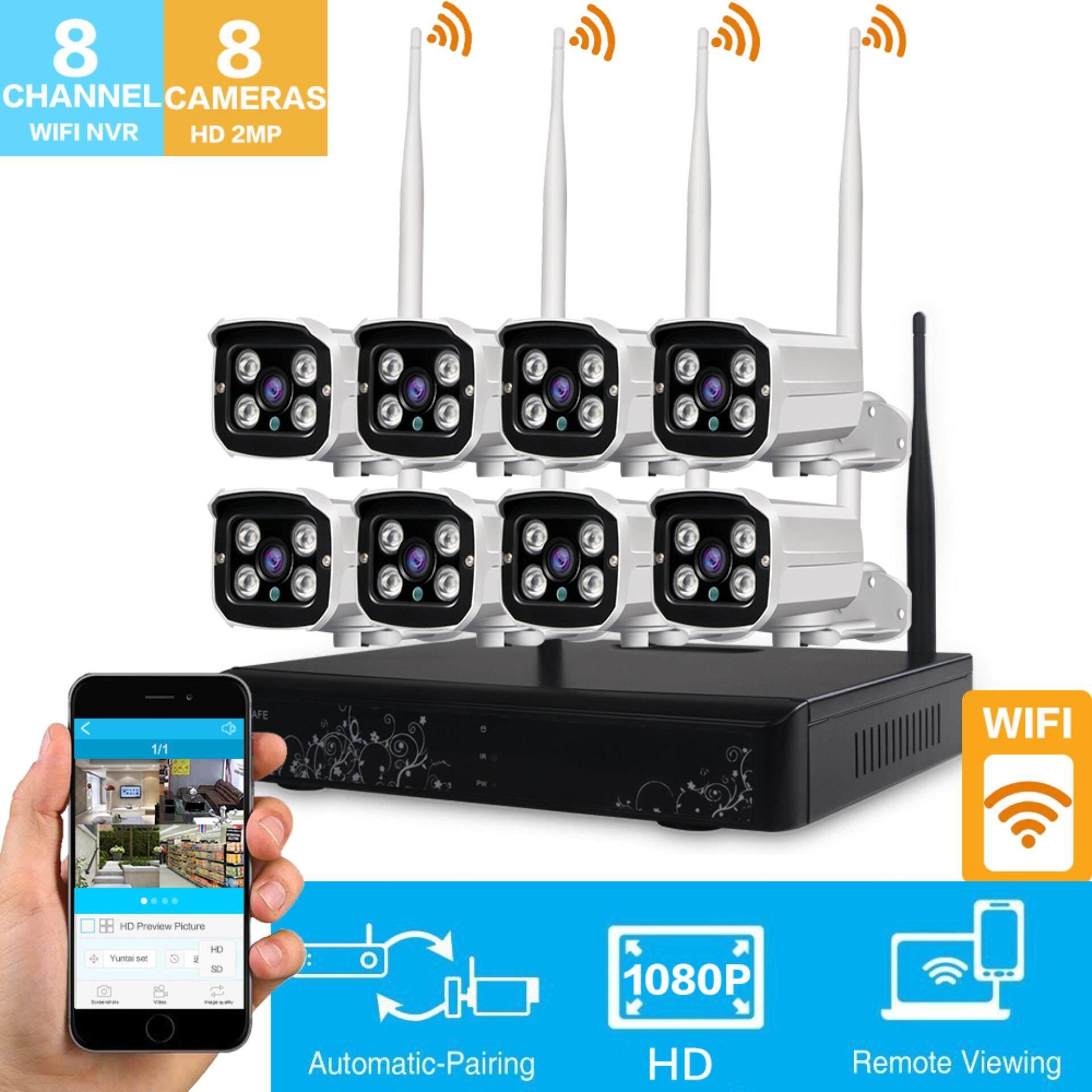 ราคา Loosafe Hd 1080 จุด Wireless Wifi Nvr ชุดกล้องวงจรปิด 8Ch ระบบกล้องรักษาความปลอดภัยไม่มีฮาร์ดดิสก์ เป็นต้นฉบับ