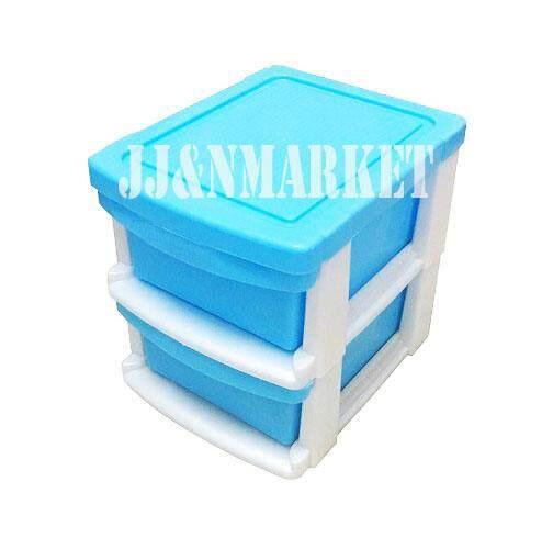Jj&nmarket ชั้นลิ้นชักขนาดเล็ก 2 ชั้น 17x21x18.5 Cm. หลากสี By Jj&nmarket269.