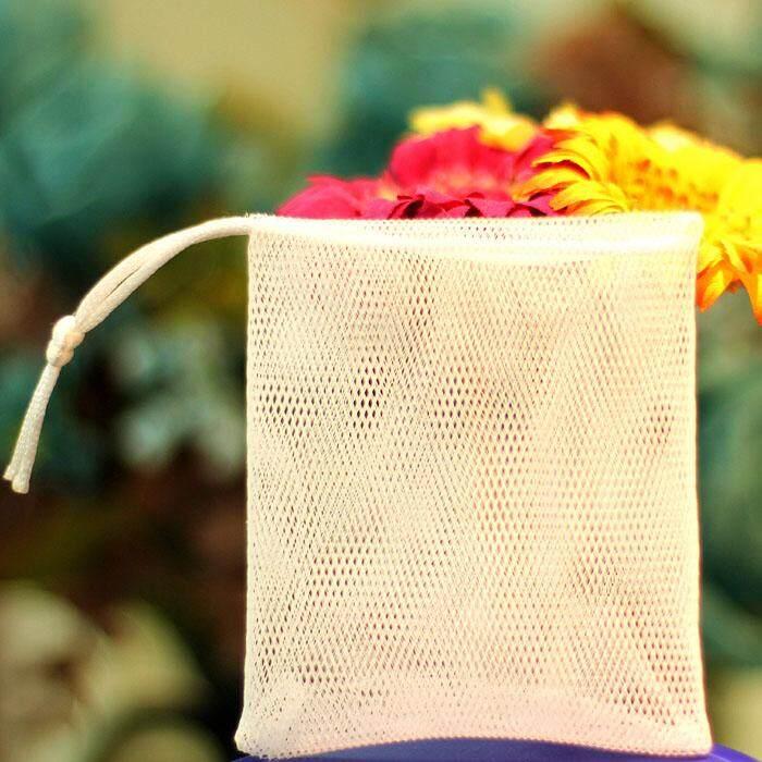 ถุงใส่สบู่ 12ใบ ขนาด 9*11cm  ถุงตาข่ายตีฟอง ไนลอน 2ชั้น (แบบนิ่ม ไม่บาดผิว) .
