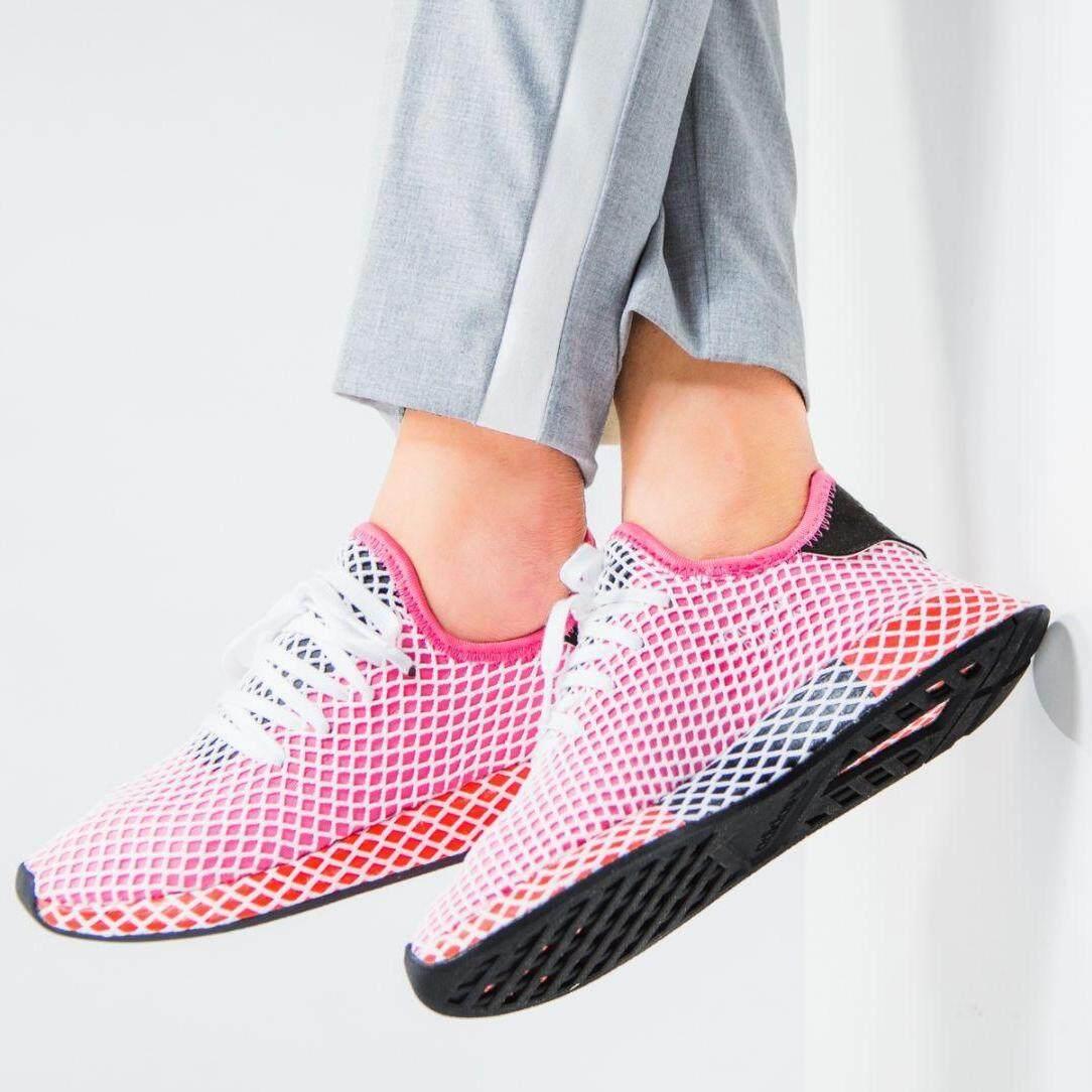 ลดสุดๆ Adidas รองเท้า แฟชั่น ออกกำลังกาย ผู้หญิง อาดิดาส DEERUPT RUNNER CHALK PINK รุ่นใหม่ล่าสุด ลิขสิทธิ์แท้  ส่งไวด้วย kerry!!!