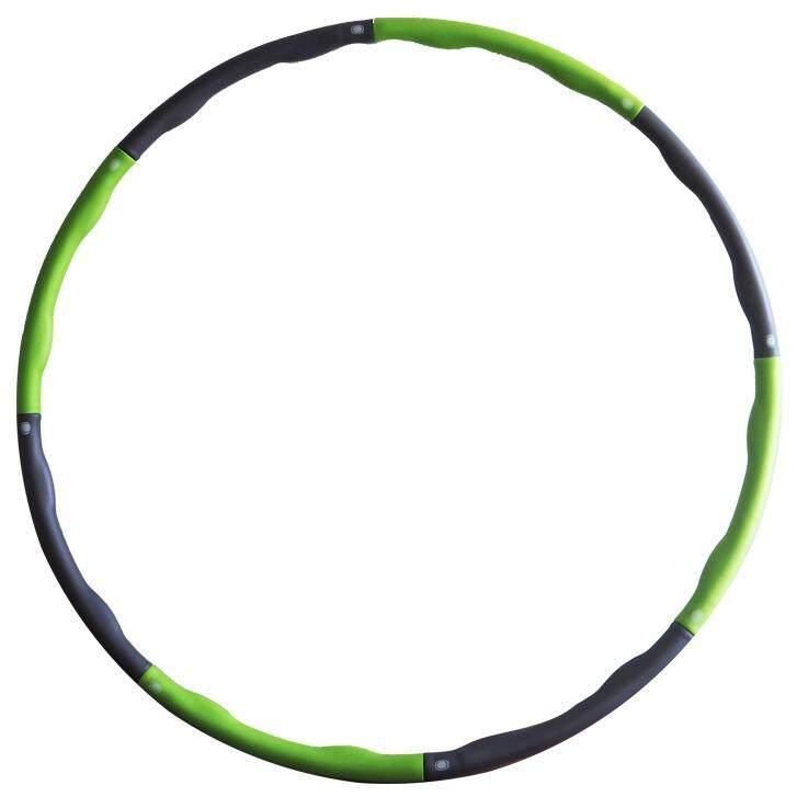 ซื้อ Hula Hoop ฮูล่าฮูป แบบลูกคลื่น ห่วงฮูล่าฮูป ลดไขมันหน้าท้อง ลดพุง กระชับสัดส่วน น้ำหนักเบาพิเศษ 95Cm สีเขียว ใหม่