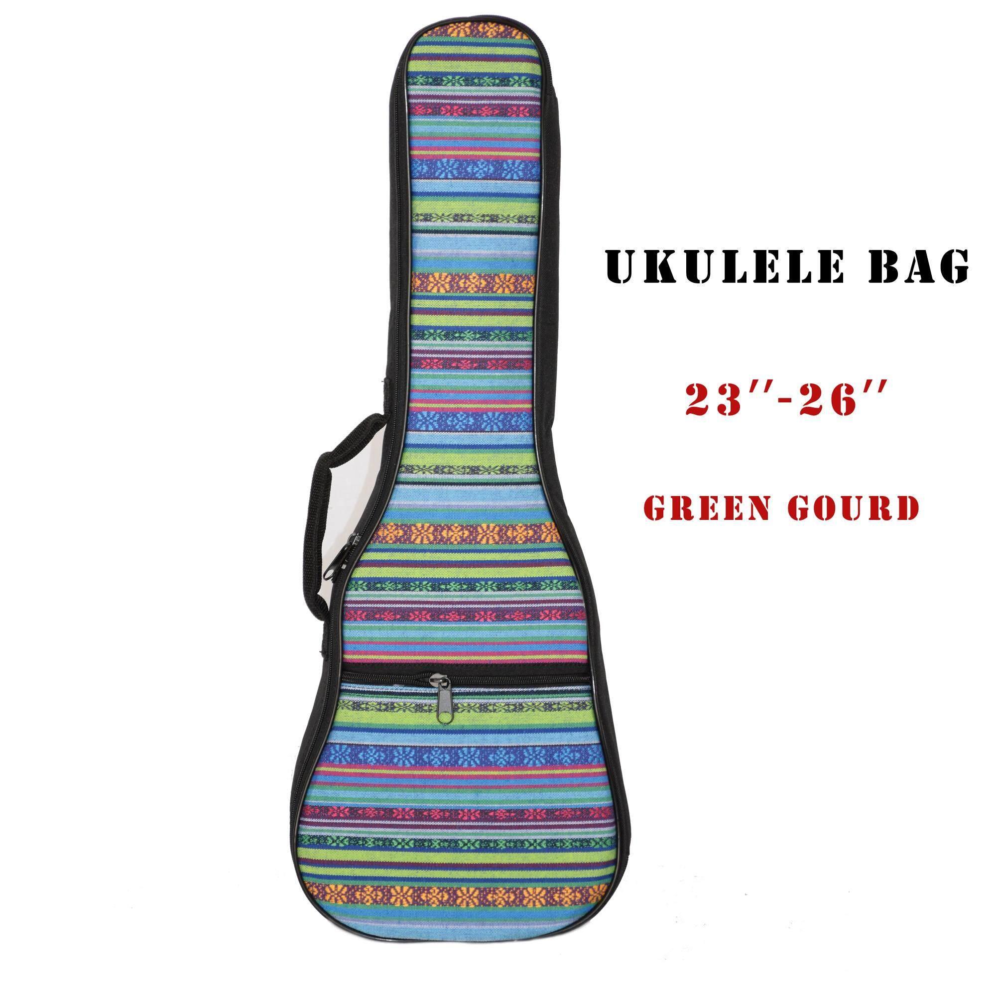 Ukulele Bag Usa Pro Ukulele Concert Bag กระเป๋า อูคูเลเล่ พิมพ์ลาย Ukulele Concet คอนเสิต 23-26 นิ้ว กันน้ำ อย่างดี By Happykids.