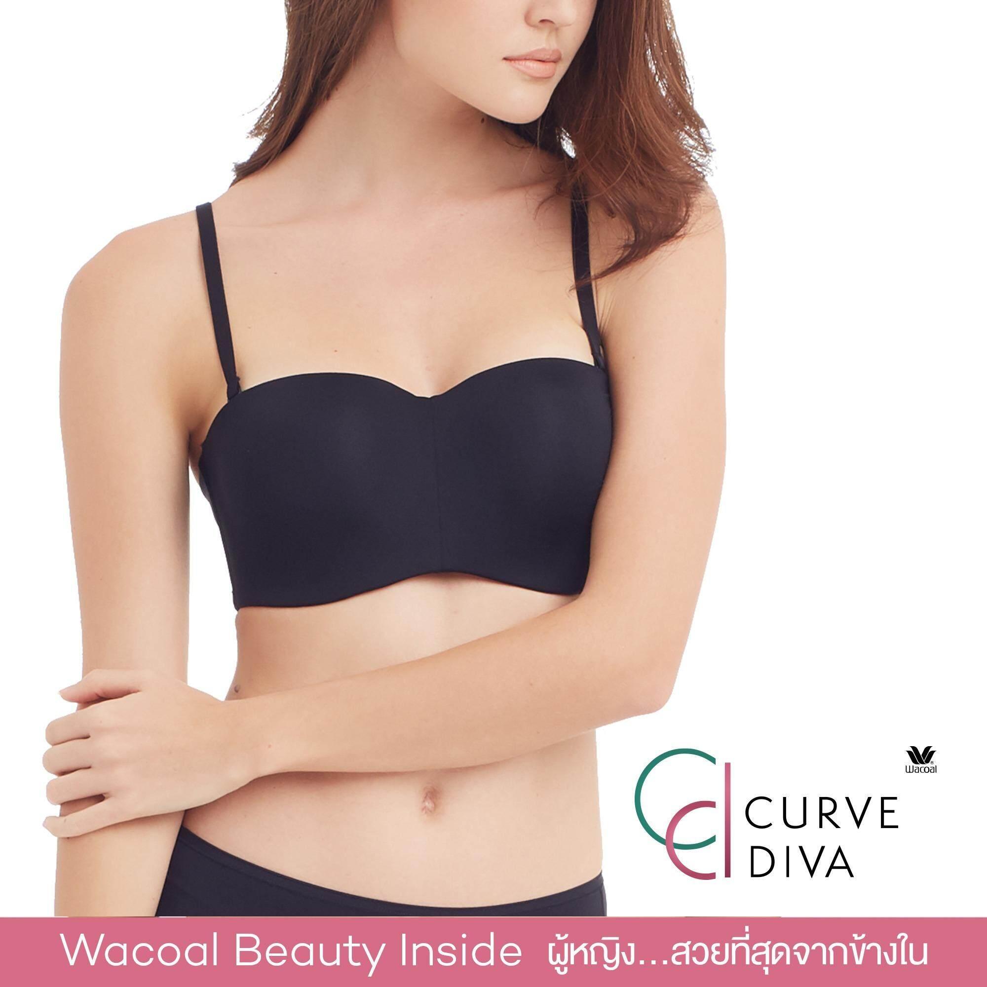 Wacoal Curve Diva Switching bra บราสลับสายบ่า 1/2 Cup (สีดำ/BLACK) - WB7939BL
