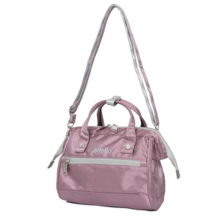 สุพรรณบุรี Anello Repellency Edition2 Mini Shoulder Bag กระเป๋าสะพายข้างแบบซิบกันน้ำ รุ่น FSO-B025-LV (สีม่วงอ่อน)