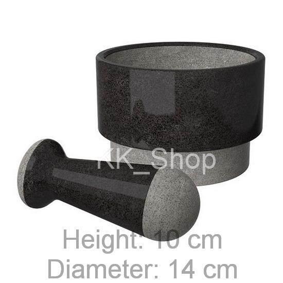 KK_Shop ครกพร้อมสาก หินอ่อน สำหรับตำและบด Pestle and mortar, marble