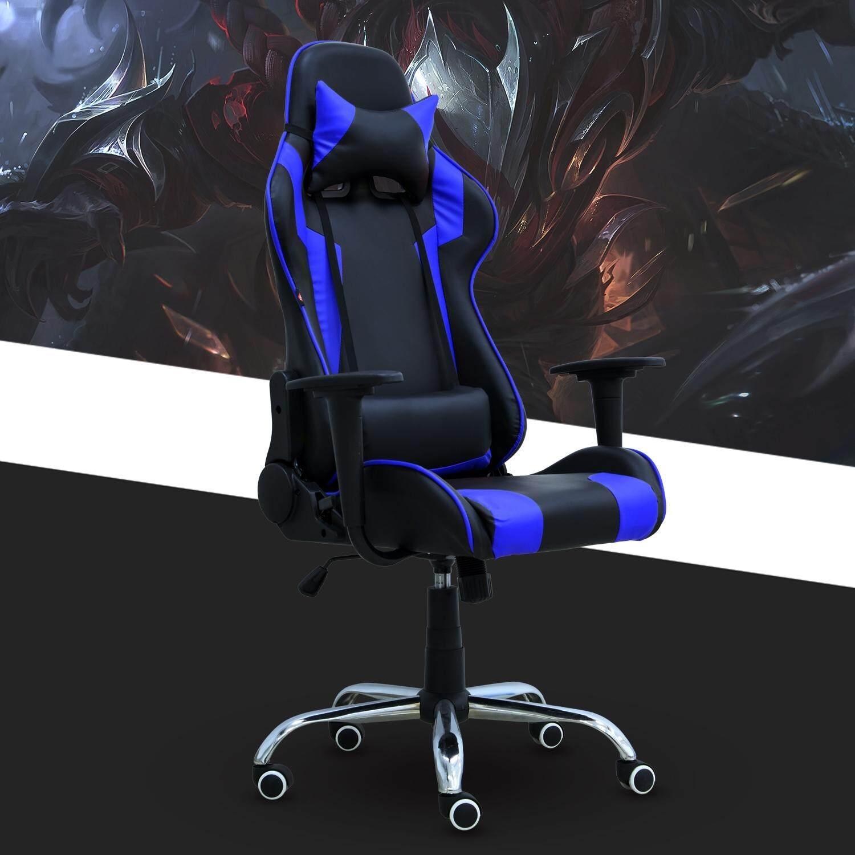 BG Furniture  เก้าอี้เล่นเกมส์ เก้าอี้สำนักงาน ปรับนอนได้ Gaming Chair - รุ่น E-01 (Blue)