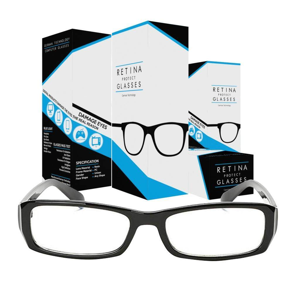 Retina Protect Glasses Computer Glasses แว่นคอมพิวเตอร์ แว่นกรองแสงคอมพิวเตอร์ แว่นถนอมสายตา แว่นกรองแสงสีฟ้า By Superspeed.