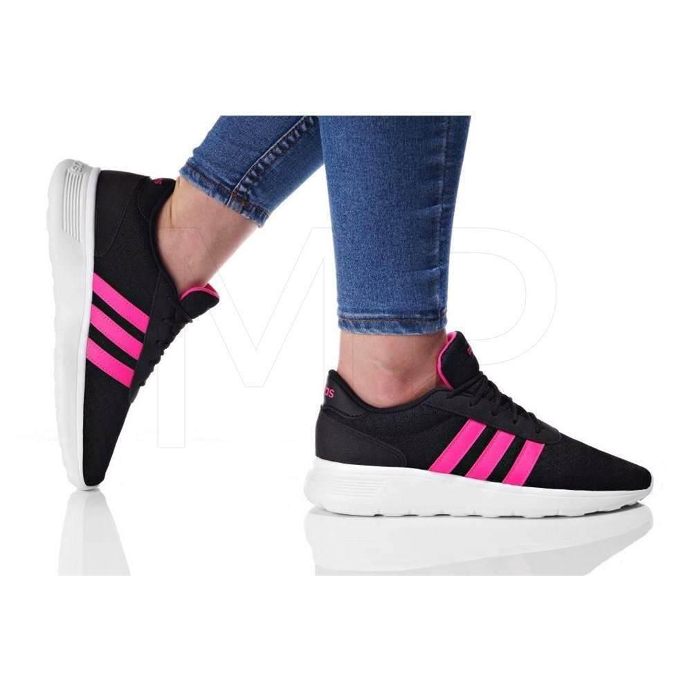 ลดสุดๆ Adidas รองเท้าผ้าใบ ผู้หญิง อาดิดาส Lite Racer Black Shock Pink น้ำหนักเบามาก สวมใส่สบาย พื้นรองรับแรงกระแทกดีมาก ของแท้100% ส่งไวด้วย kerry!!!