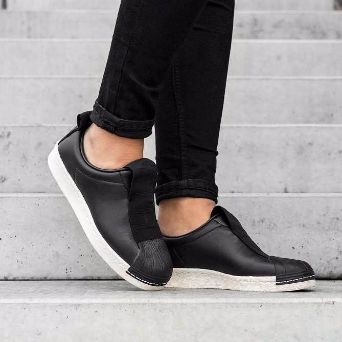 Adidas รองเท้าผ้าใบอดิดาส แฟชั่น อาดิดาส Slip On Superstar Bw Double Black (รุ่น Limited หนังพรีเมี่ยม ).