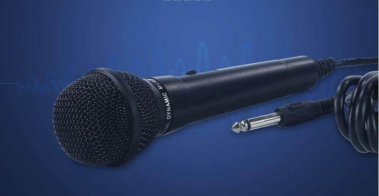 ไมโครโฟนแบบสาย  เหมาะแก่การร้องเพลงในบ้าน ร้องคาราโอเกะก็เยี่ยม.