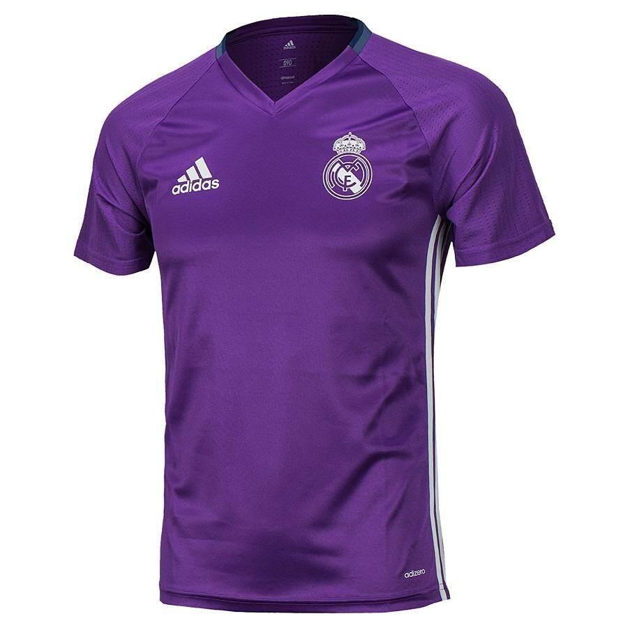 ซื้อ Adidas เสื้อฟุตบอล Real Madrid Training 2017 Ao3117 Purple Adidas Perfomance ออนไลน์