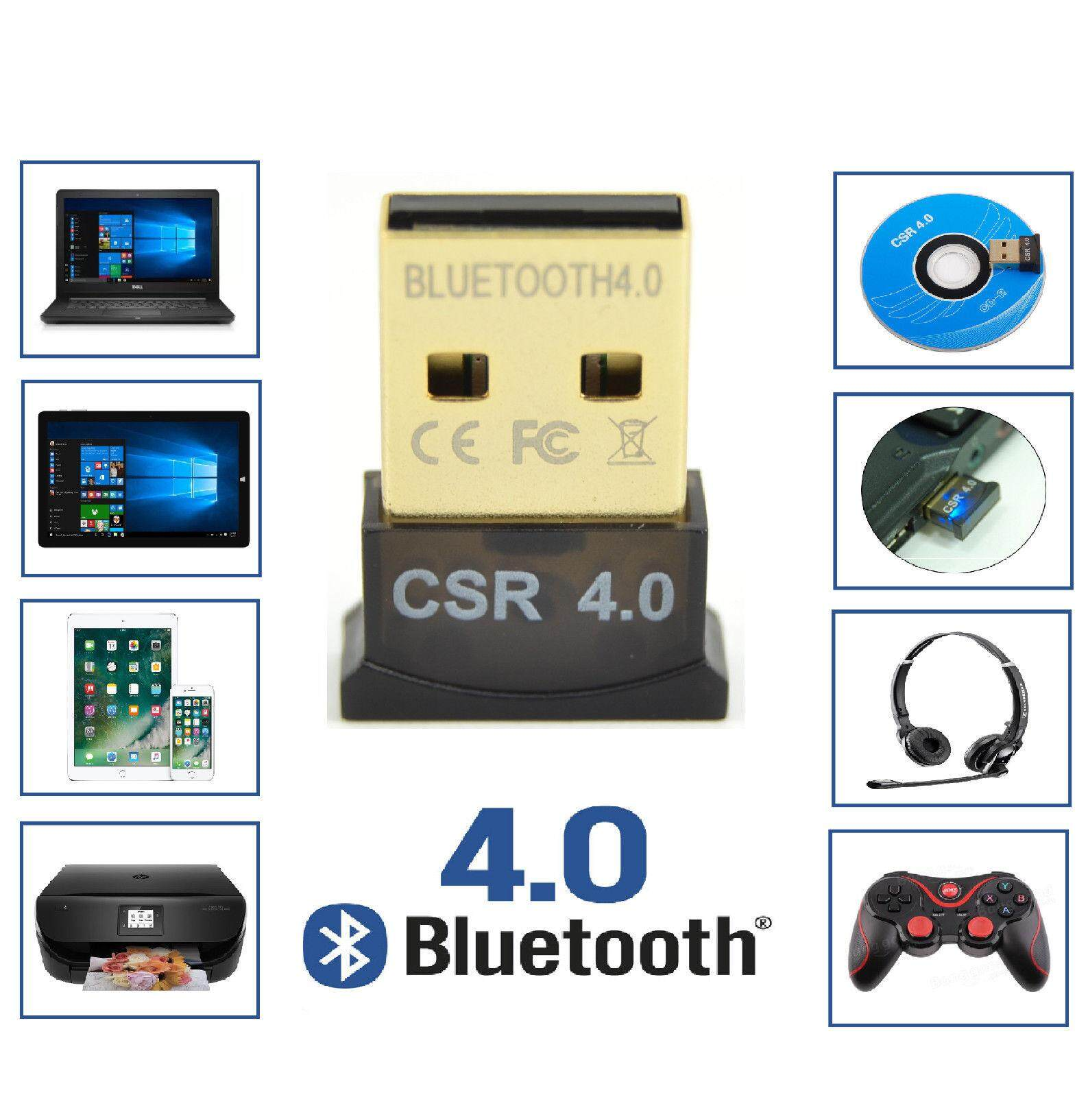 ใหม่ล่าสุด2018!!! ของแท้! Usb Bluetooth Adapter V4.0 Dual Mode High Speed Wireless Bluetooth Dongle Csr 4.0 Usb 2.0/3.0 For Windows 10/8/7/vista/xp รุ่น Mg1001.