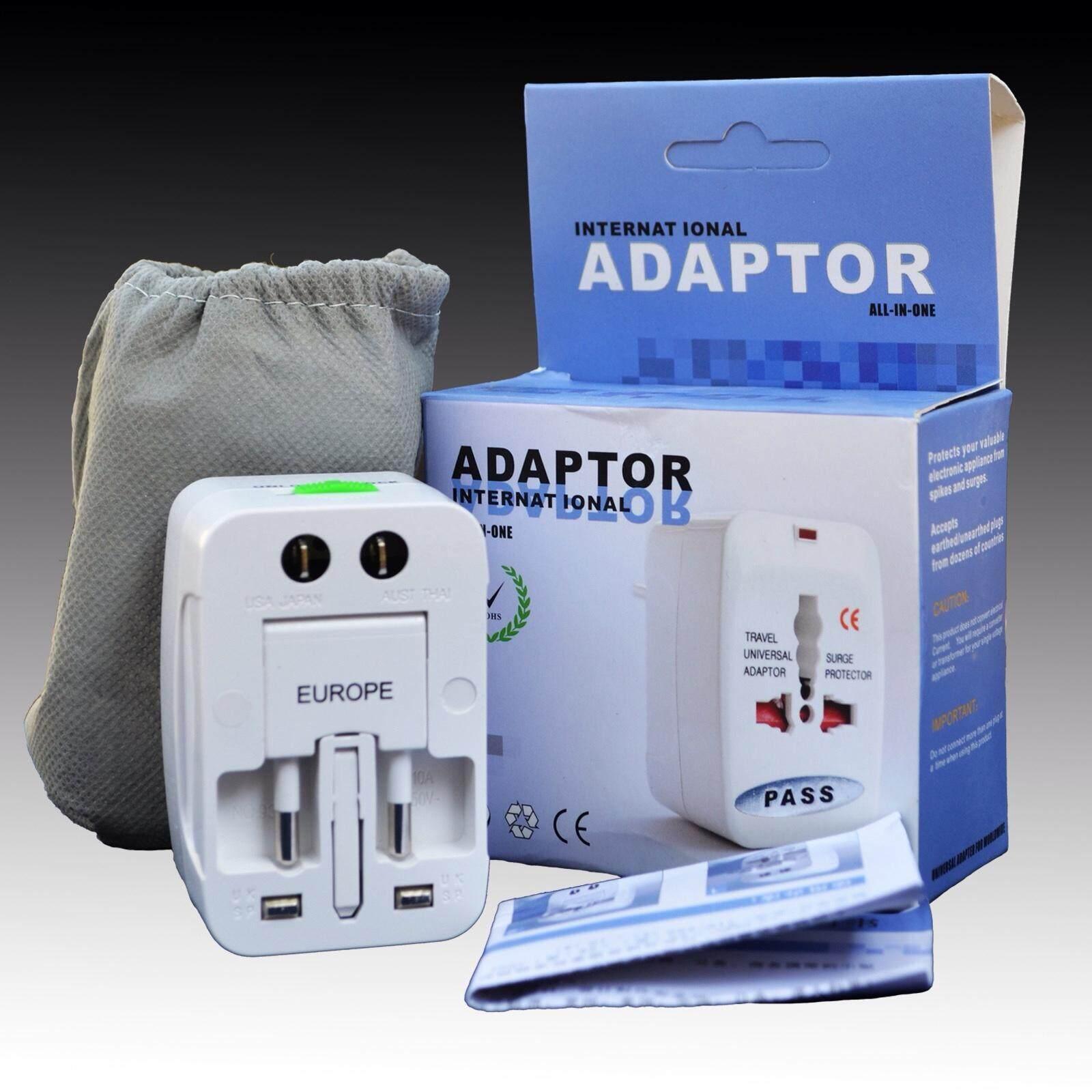 Universal Plug Travel Adapter หัวปลั๊กไฟ ใช้ได้ทั่วโลก เหมาะกับ ผู้ที่เดินทางต่างประเทศบ่อยๆ (white) By So Good Store