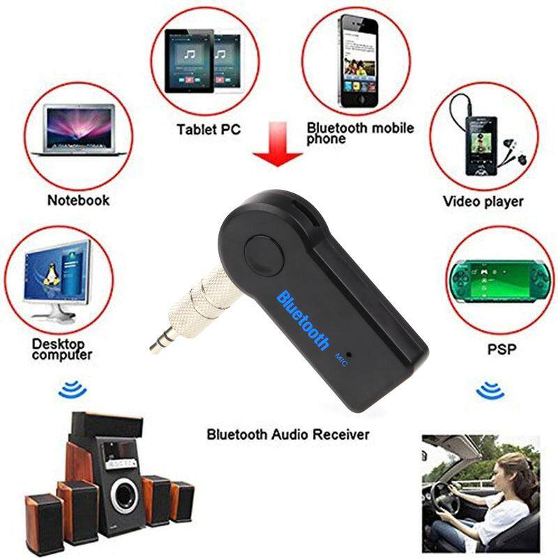 บลูทูธมิวสิคต์ Bluetooth Music Home Car Speaker Audio Adapter 3.5mm Music Receiver (hands-Free).