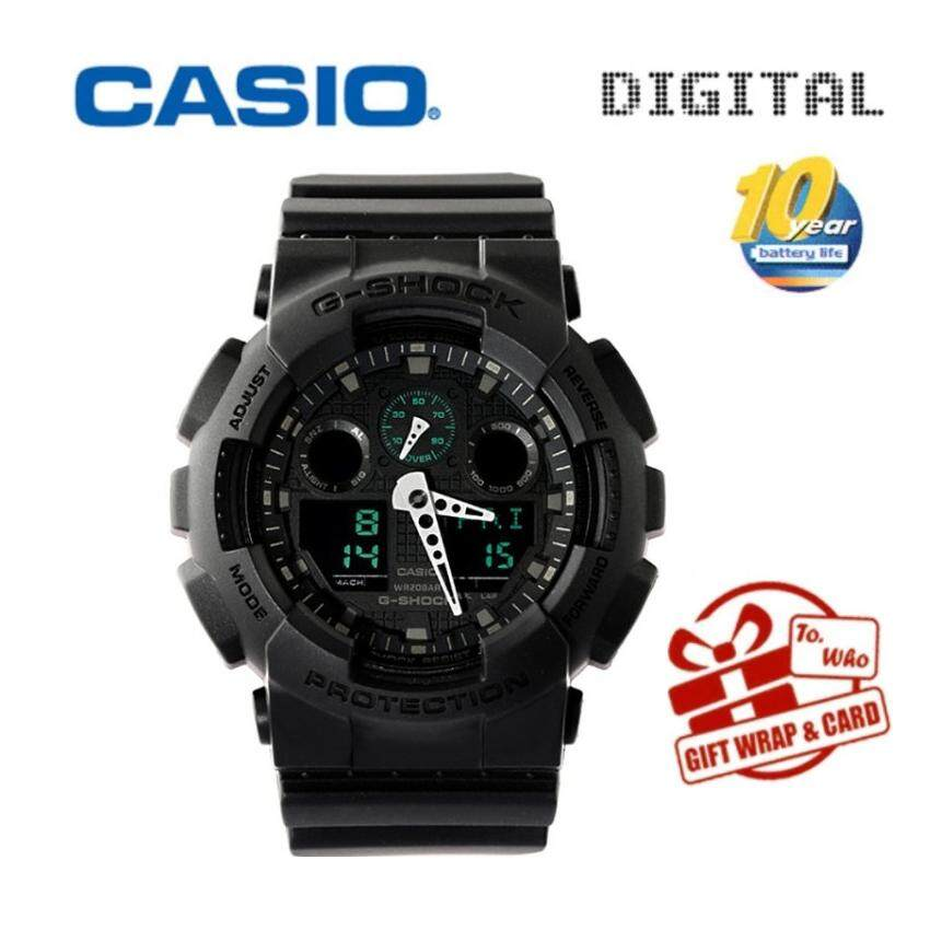 Casio Sports Watches Waterproof Shockproof Watch Black / Gold Mens Watch Ga-100cf.