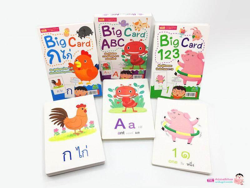 ชุด Big Card เรียนรู้พยัญชนะไทย ก-ฮ, Abc, 123 (3 กล่อง) By Mis Publishing Co., Ltd..