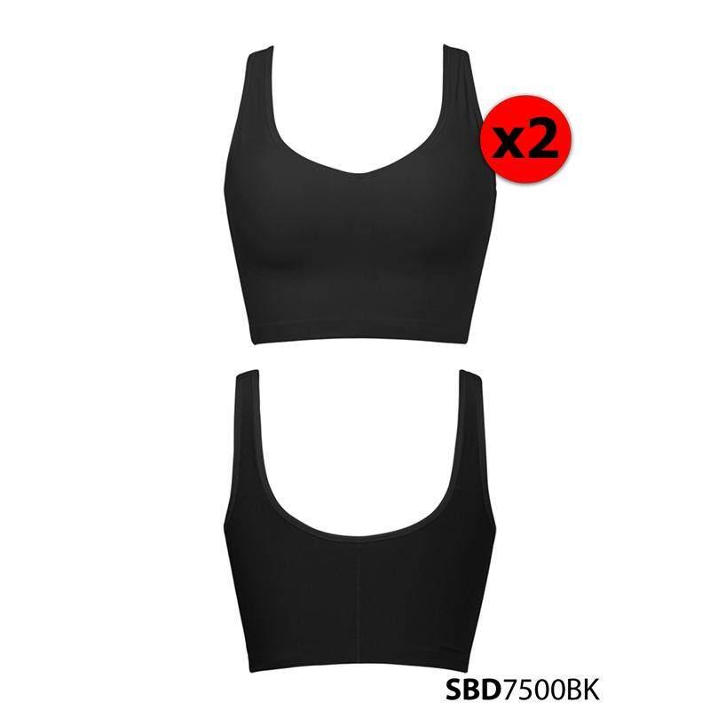 [Set 2 ชิ้น] Sabina เสื้อชั้นใน Perfect Bra Wireless Shape (ไม่มีโครง) รหัส SBD7500 สีดำ