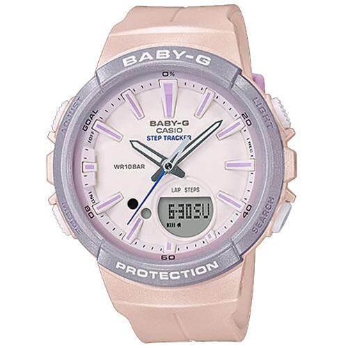 ยี่ห้อไหนดี  ชลบุรี CASIO Baby-G นาฬิกาข้อมือผู้หญิง สีชมพูอ่อน สายเรซิน รุ่น BGS-100SC-4ADR (CMG)