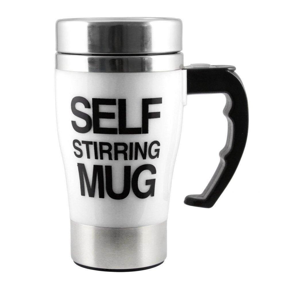 แก้วชงเครื่องดื่มอัตโนมัติ Self Stirring Mug(สีขาว)