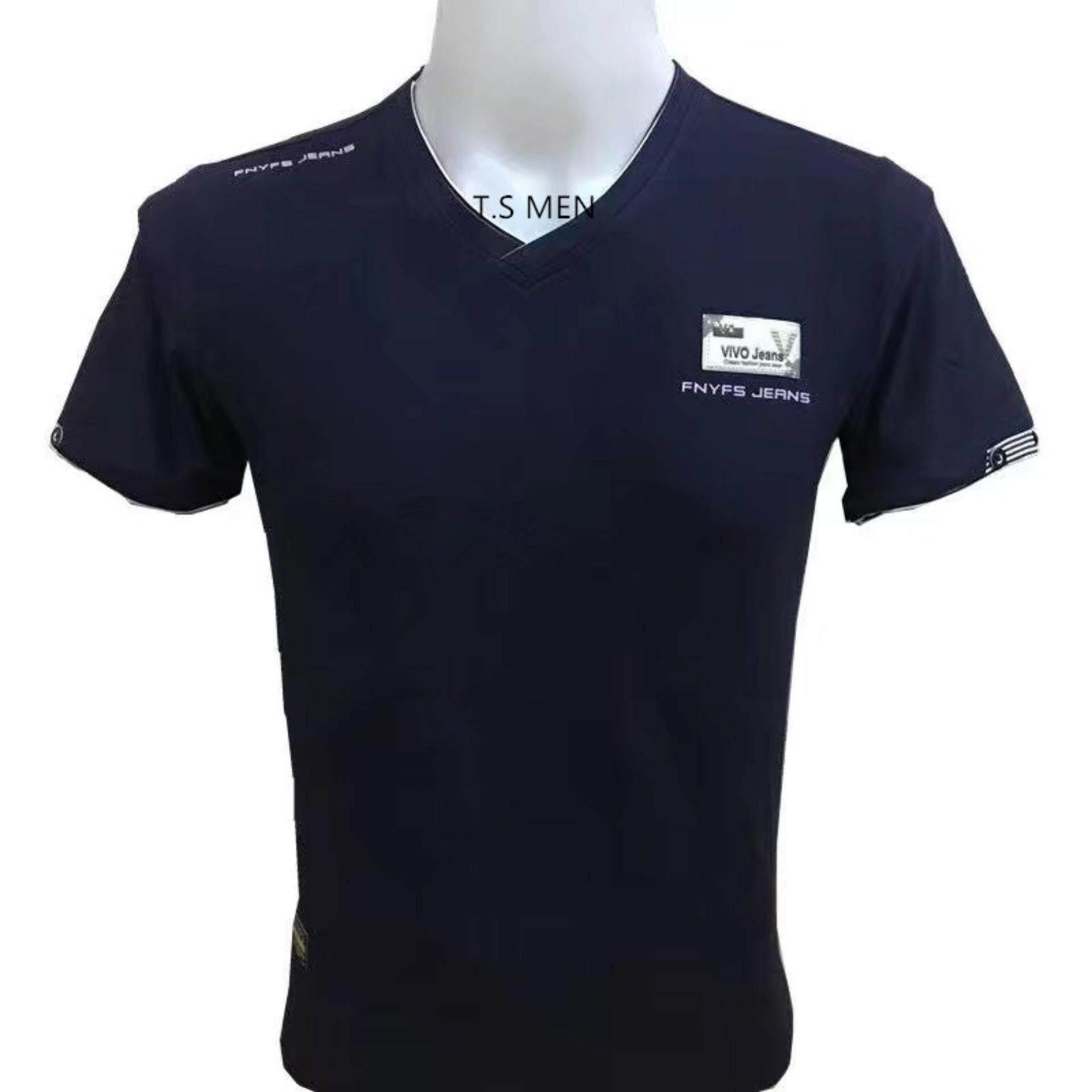 ทบทวน เสื้อยืดผู้ชายMen S T Shirtเสื้อยืดแฟชั่นผู้ชาย Oemgenuine
