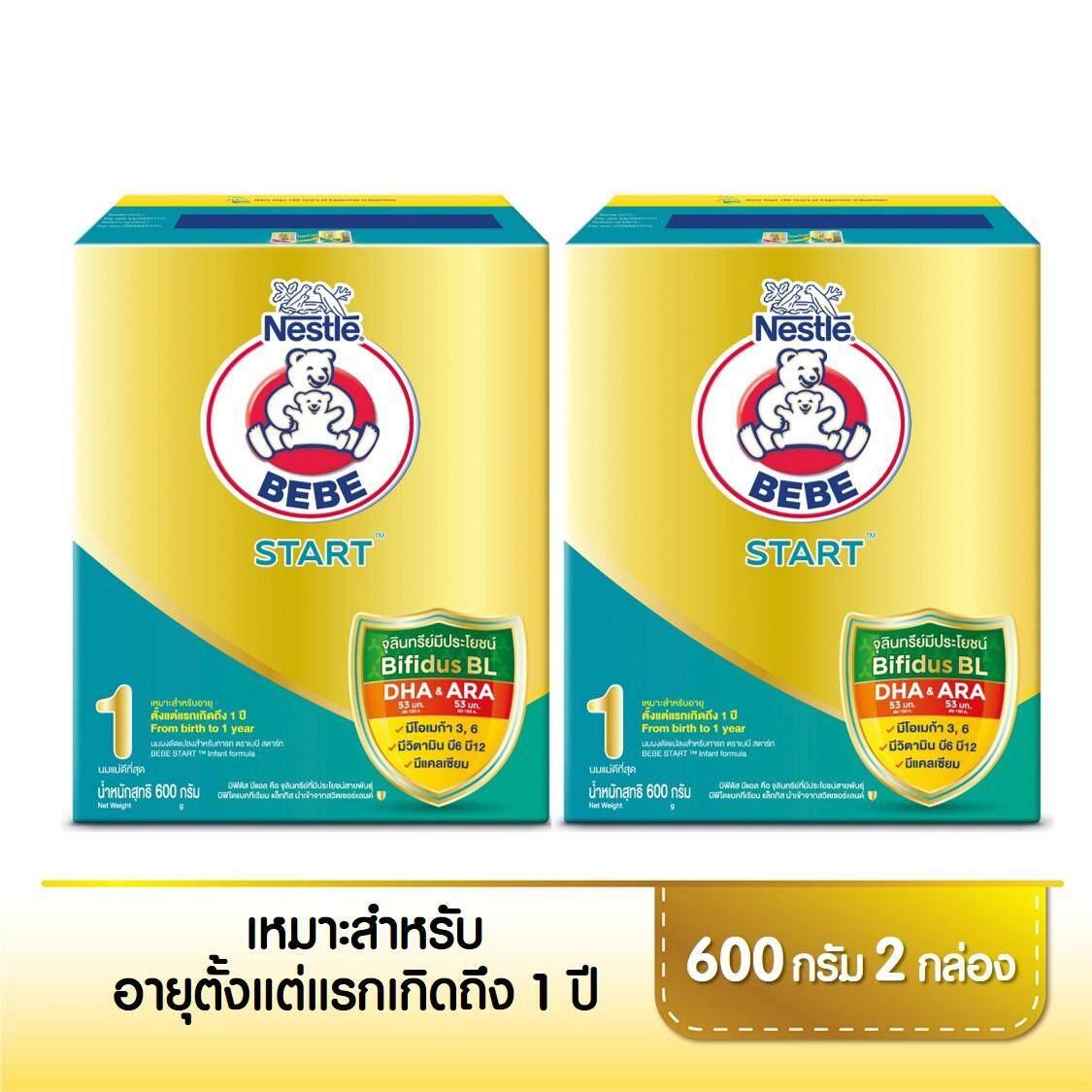 ราคาถูก  นมผง ตราเบบี แอดวานซ์ สตาร์ท นมผงสำหรับทารก ขนาด 600 กรัม x 2กล่อง   รีวิวสินค้า ของแท้
