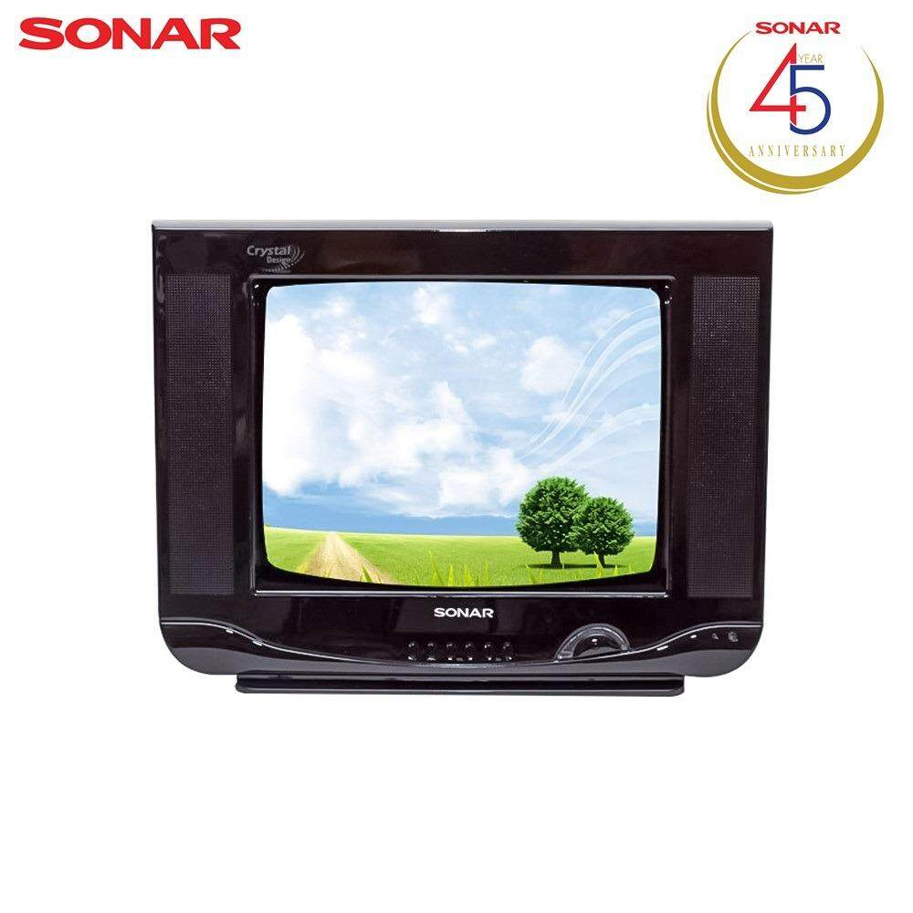 ราคา Sonar Tv Crt 14 นิ้ว Crystal Design ทีวี 14 รุ่น 14Fn81 สีดำ ใหม่ ถูก