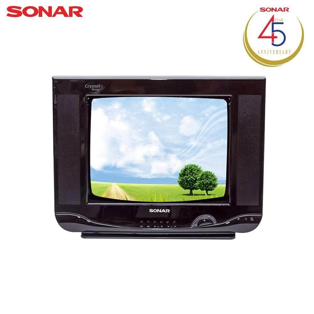 Sonar Tv Crt 14 นิ้ว Crystal Design ทีวี 14 รุ่น 14Fn81 สีดำ เป็นต้นฉบับ