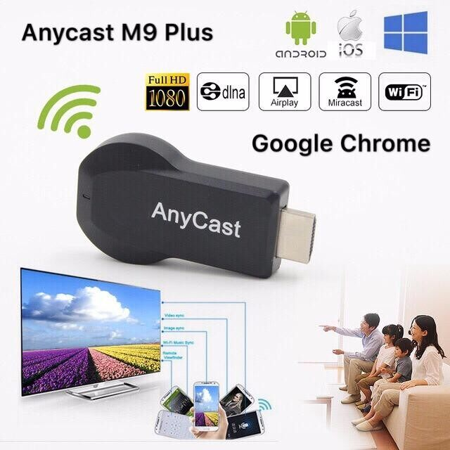 ส่วนลด สินค้า Anycast M9 Plus ล่าสุด 2018 Hdmi Wifi Display ต่อมือถือไปทีวี ไม่ต้องลงแอพ รองรับ Iphone Ipad Google Chrome Android