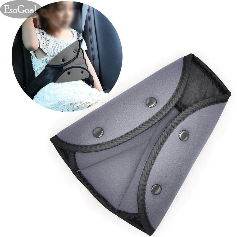 Esogoal Seat Belt Adjuster, Car Safety Seat Belt Strap Adjuster, Seat Belt Positioned.