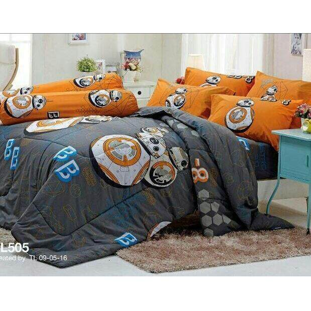 ราคา Tulip ชุดผ้าปูที่นอน ไม่รวมผ้านวม ลาย สตาร์วอร์ส Star Wars รุ่น Sl505 ที่สุด