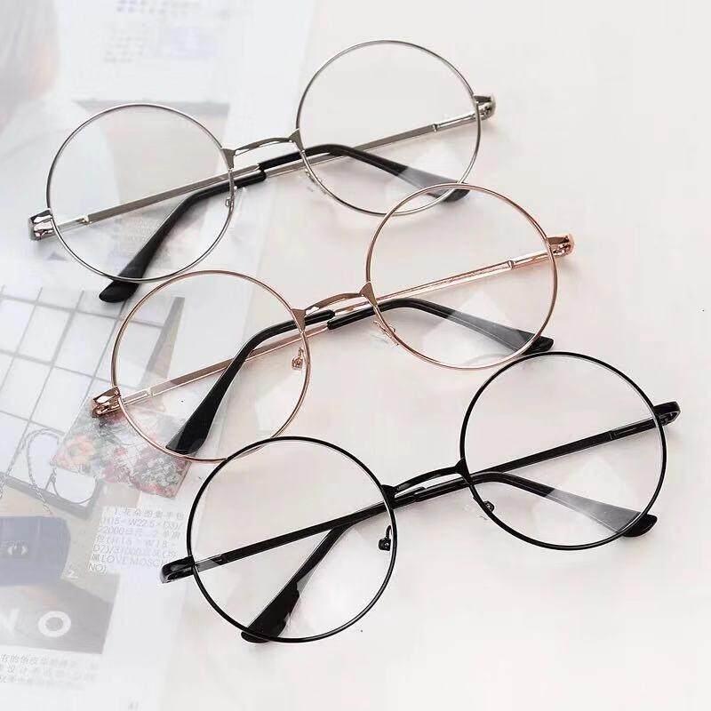แว่นตากรองแสง แว่นกรองแสง ทรงกลม (กรองแสงคอม กรองแสงมือถือ ถนอมสายตา) By Come.